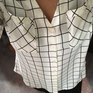 NWT Express button down checkered shirt